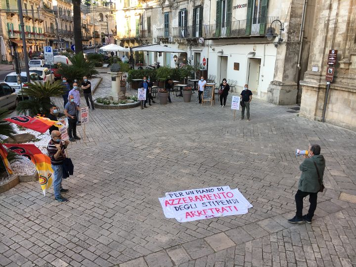 Cub Trasporti e il flash mob della Servizi per Modica