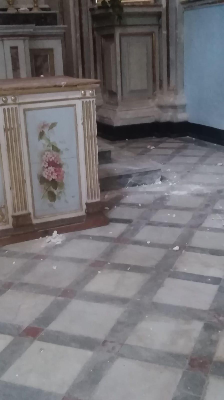 Crollo nella cappella di San Giorgio a Modica